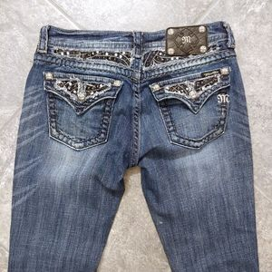 Miss Me Jeans Sz. 28 Boot Inseam 31, crystals